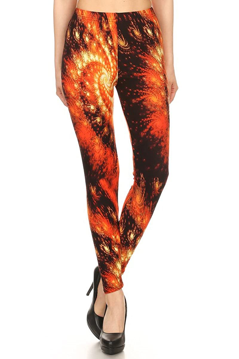 Leggings Depot Womens Ultra Soft Printed Fashion Leggings BAT8