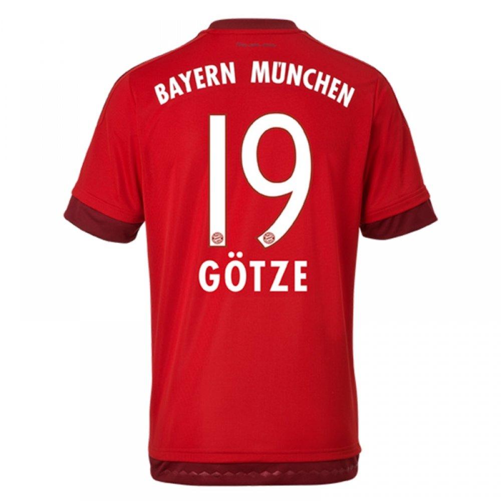 2015-16 Bayern Munich Home Shirt (Gotze 19) Kids B077VMXD8RRed Medium Boys 28-30\