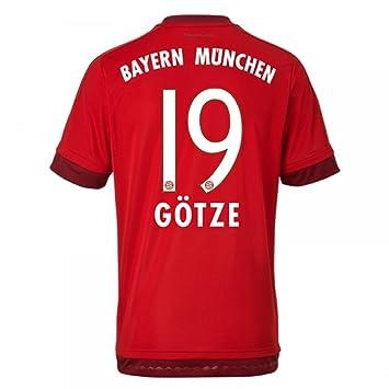 b7415079e46c00 adidas Jungen Fußballtrikot FC Bayern München Heim Replica  Amazon ...