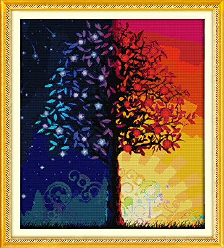Benway Counted Cross Stitch Kit Colour Life Tree 14 Count 57