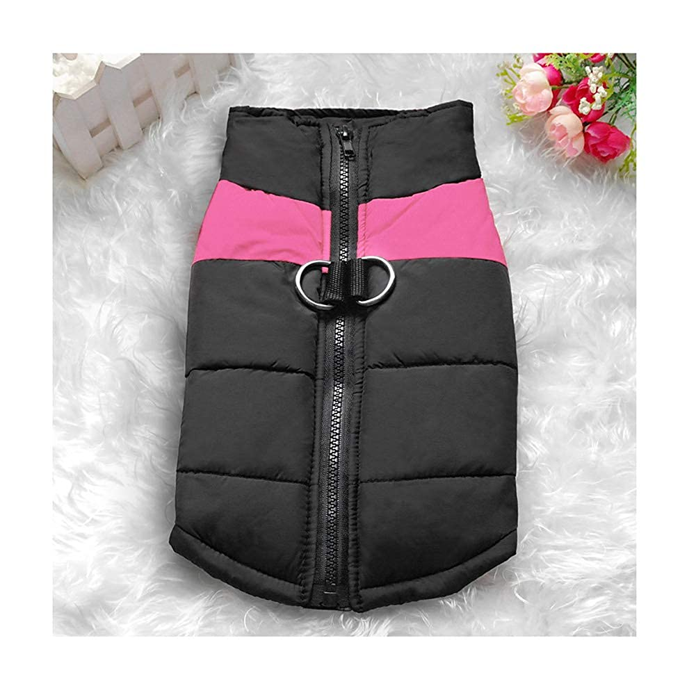 Pink XX-Large Pink XX-Large Guvv Dog Winter Coat Waterproof Clothes for Small Medium Large Pet Dog Cat Size