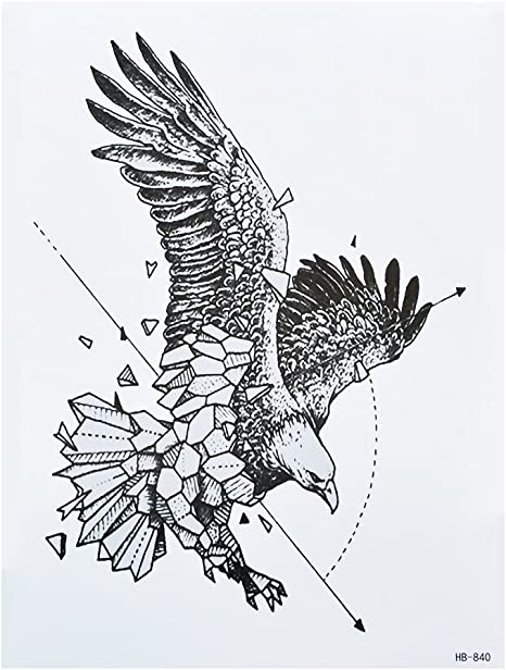 Líneas adhesivo Line Tattoo Águila Tattoo Negro hb840 Arm Tattoo ...