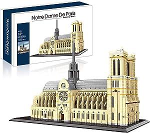 Architecture Notre Dame De Paris Micro Mini Block 7380 pcs Model Building Kit, Creative Building Set for Any Hobbyists, for Adults