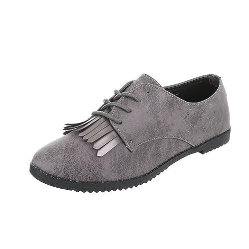 Zapatos para mujer Mocasines Tacón ancho Zapatillas Ital-Design: Amazon.es: Zapatos y complementos