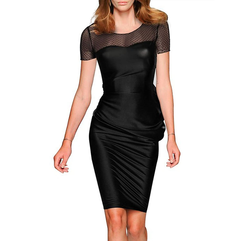 Missmay Women's Wear Party Girls Midi Bodycon Tunic Mesh Miusol Dress