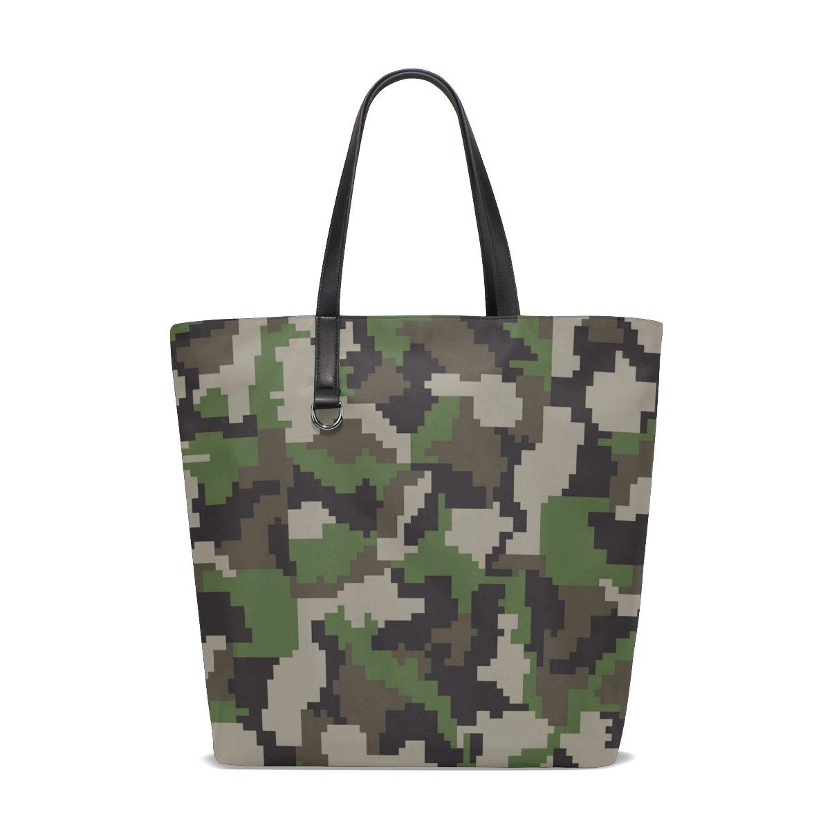 Handbags for Women Mosaic Camouflage Tote Shoulder Bag Satchel for Ladies Girls