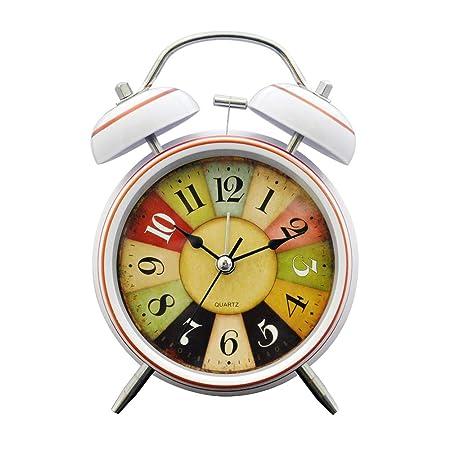 EZ Life Multicolor Digits Desk Alarm Clock - Metal - White Rim