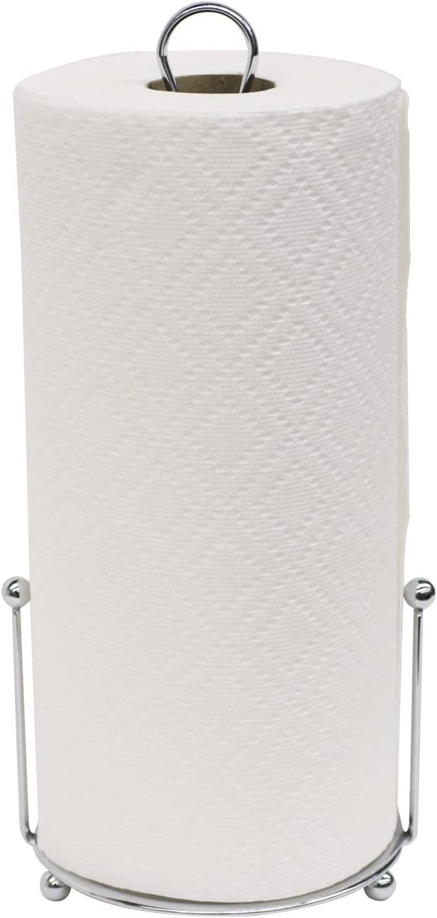 Home Basics Chrome Collection Paper Towel Holder, Silver