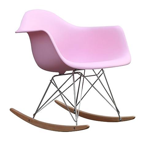 Phenomenal Fine Mod Imports Rocker Arm Chair Pink Lamtechconsult Wood Chair Design Ideas Lamtechconsultcom