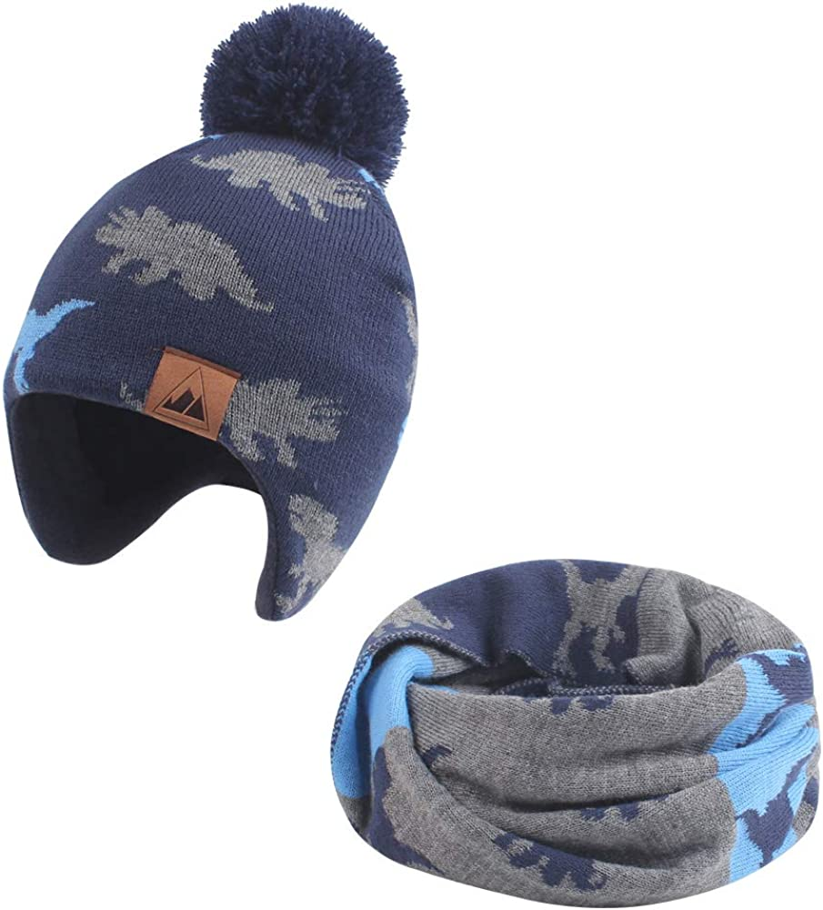 Iridescentlife Toddler Winter Hat for Boys Warm Baby Girl Beanie Fleece Infant Knit Snow Caps for Newborn