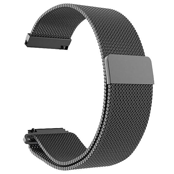 Pulsera de Acero Inoxidable, Correa de Banda para Reloj Xiaomi Amazfit Bip para jóvenes: Amazon.es: Relojes