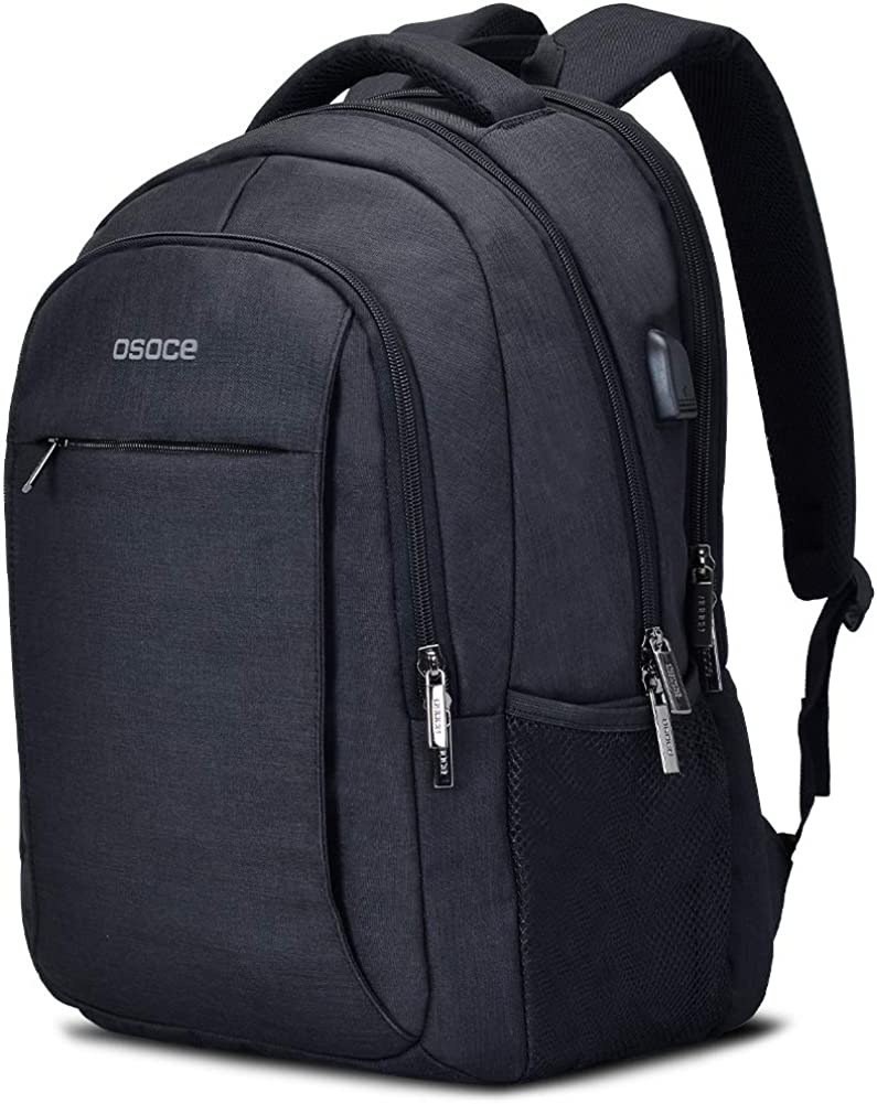 Travel Laptop Backpack College School bag Casual Daypack with USB Charging Port