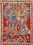 Dancing Radha Krishna - Kalamkari Painting on Cotton