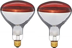 Pyramid 250BR40/RED 250 Watts, R40 Reflector, Red Medium E26 Base Incandescent Heat Lamp Light Bulb (View Amazon Detail Page) (2 Pack)