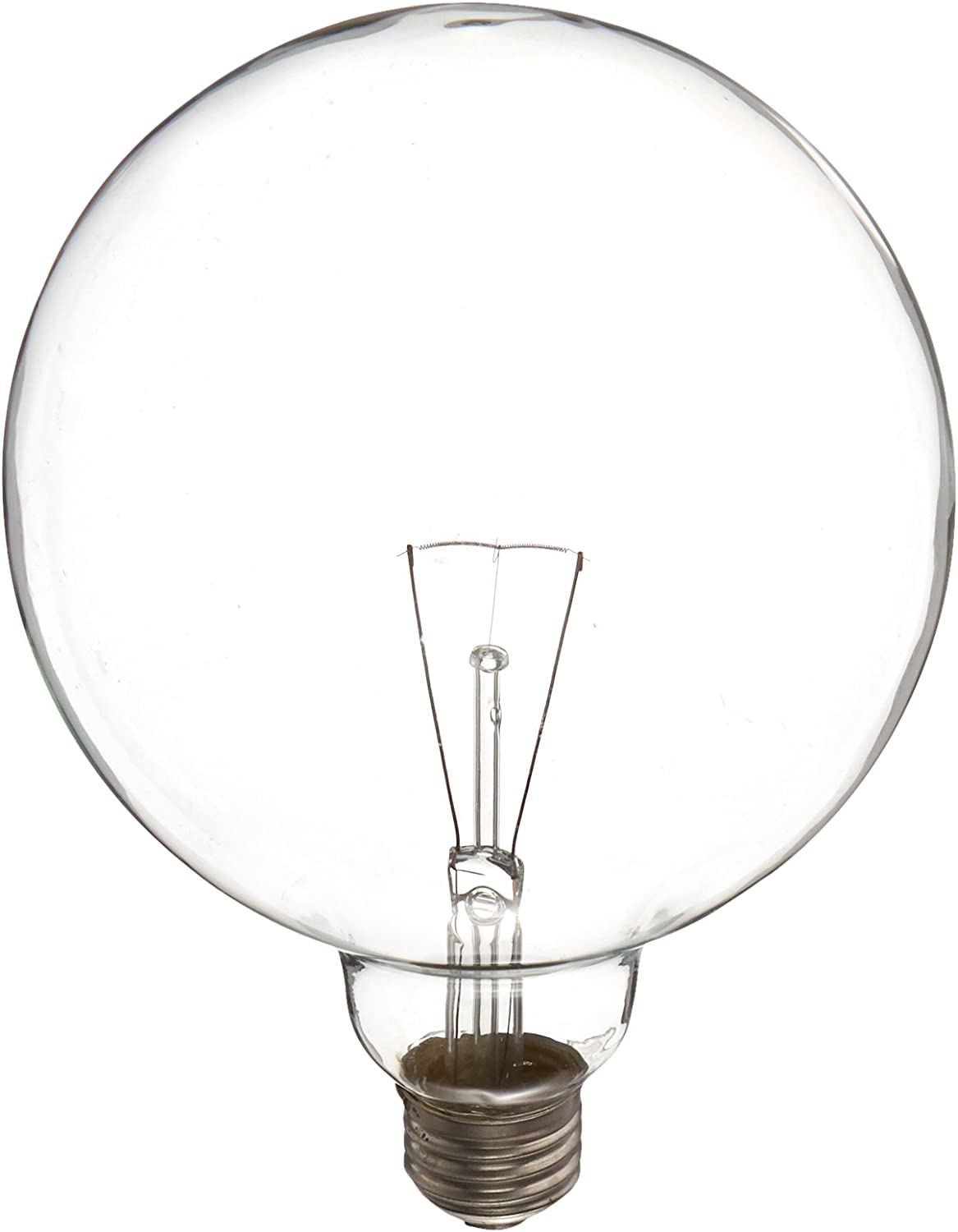 GE Lighting 14187 60-Watt Crystal Clear G40 Vanity Globe Light Bulb, 1-Pack