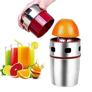 Extractor de exprimidor manual de acero inoxidable para frutas, cítricos, limón, amarillo,