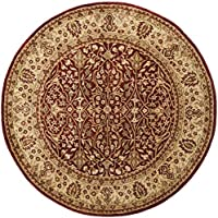 Safavieh Persian Legend Collection PL520A Handmade Traditional Rust and Beige Wool Round Area Rug (36 Diameter)