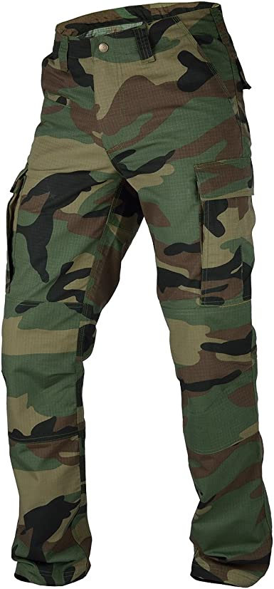 Relaxed Fit BDU Pants Zip-Fly Tactical Uniform Cargo Military Fatigues Work Duty