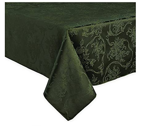 Tablecloth Forest/Olive Green Damask 60 X 144