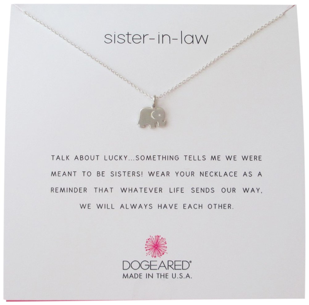 Dogeared Sister In Law Elephant Reminder Boxed 16''-18'' Necklace (sterling-silver)