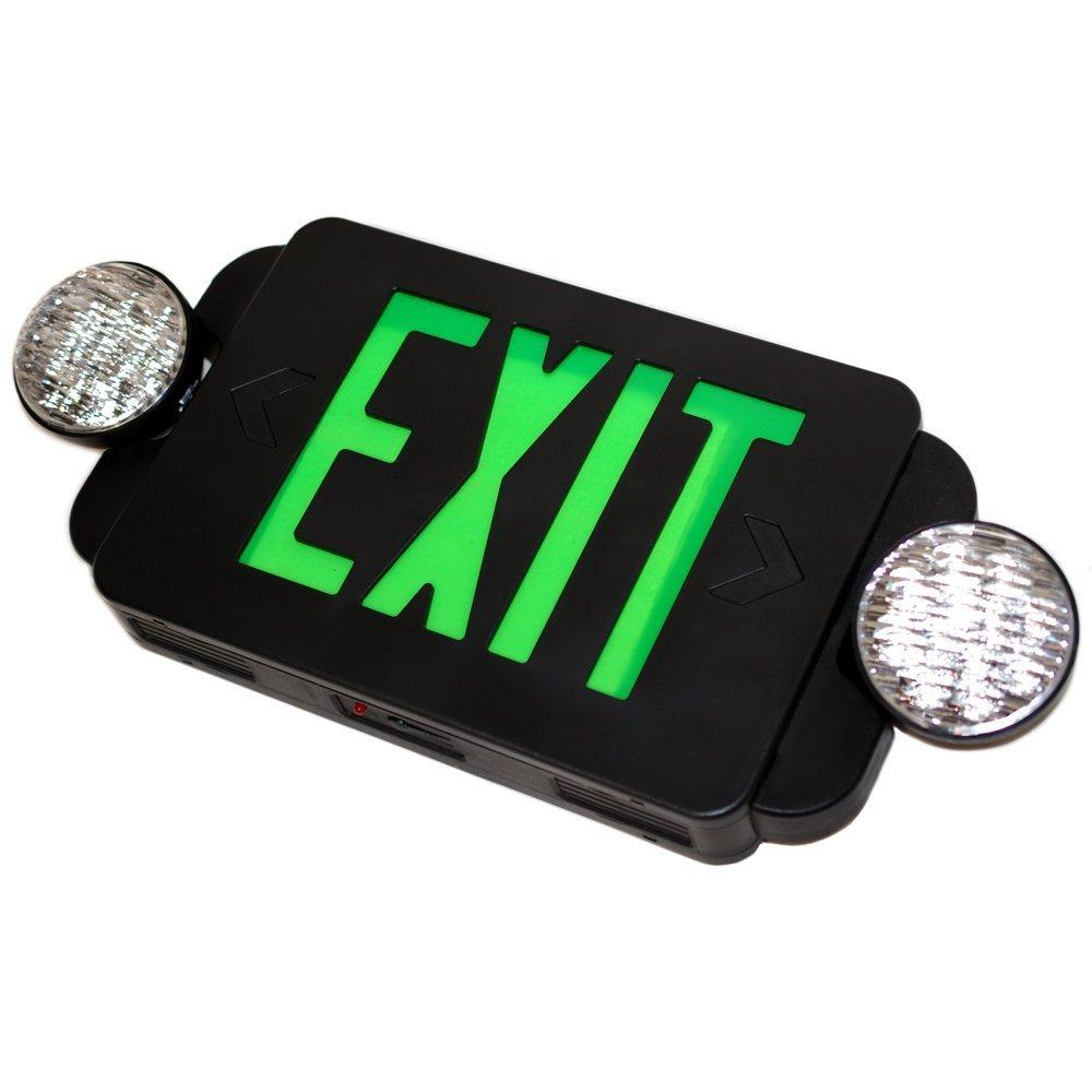eTopLighting LED BLACK Exit Sign Emergency Light Combo with Battery Back-Up UL924 ETL listed, EL2BG-B-1 by eTopLighting (Image #4)