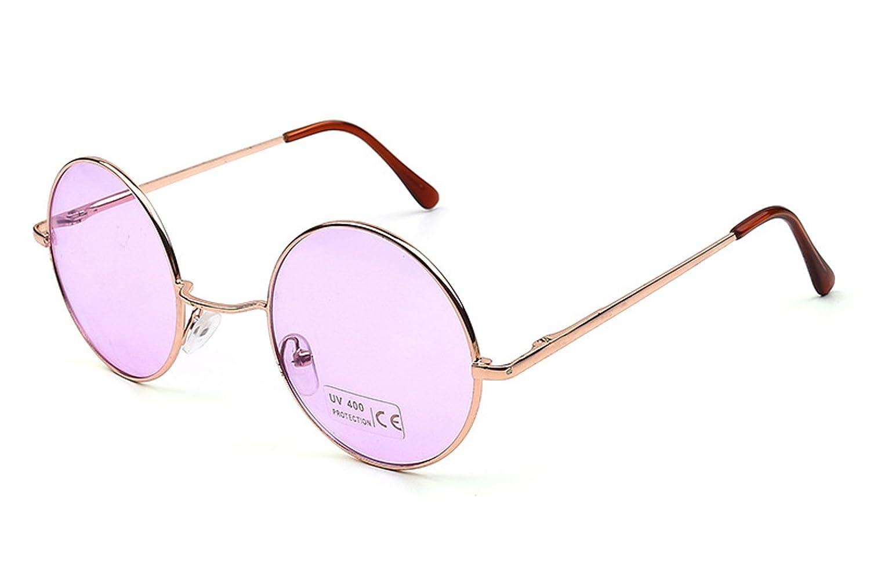 4505bbc6d6e Amazon.com  Caixia Women s SJT-TZ Colored Tinted Lens Retro Metal Round  Sunglasses (blue