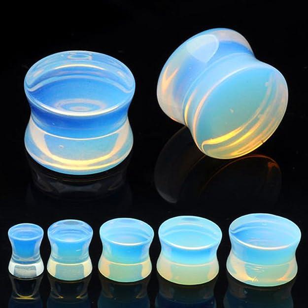 Huacan 8 Piezas Dilataciones Orejas Piedra Natural Diferentes Estilos Expansor Plug Pediente Piercing 16mm: Amazon.es: Joyería
