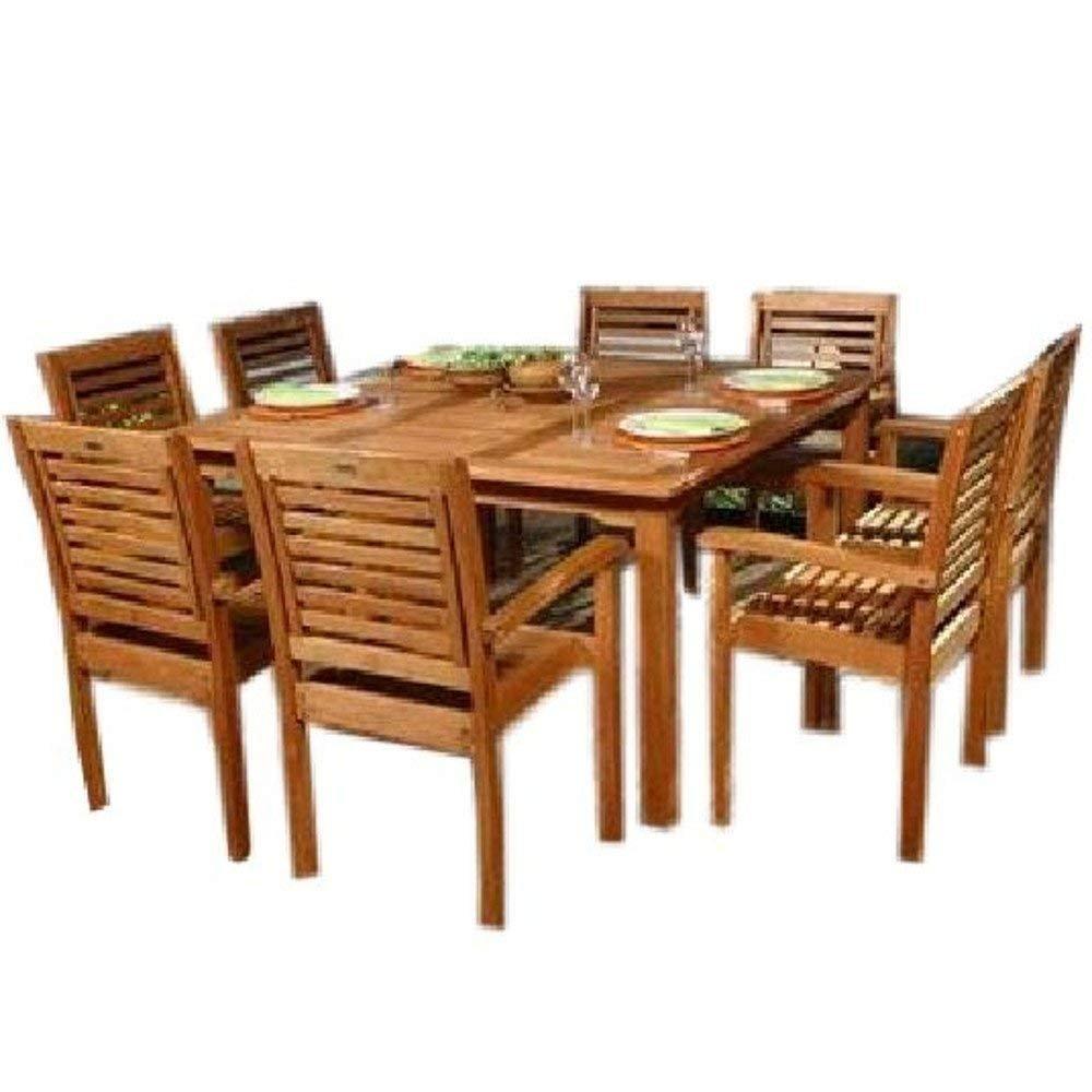 Amazon.com: Juego de comedor exterior de madera GT para ...