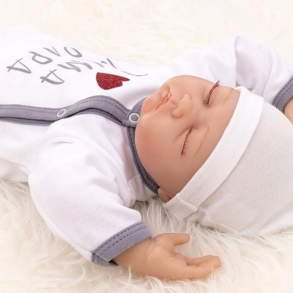 Baby Sweets Unisex Gorro Blanco Gris Talla:1 Monat 56