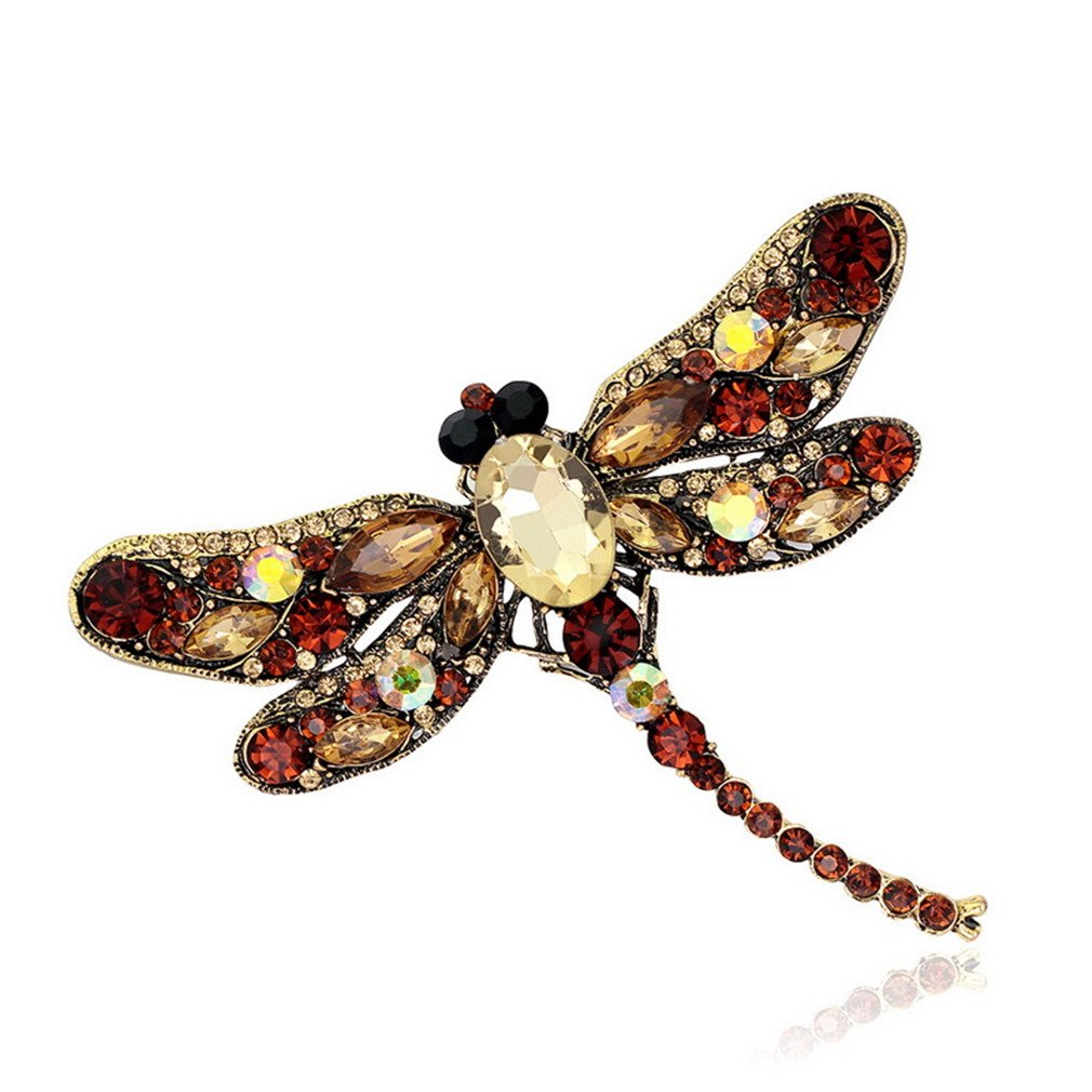 Brooches Corsages Jewelry Shining Crystal Vintage Brooch Crystal Big Clothes Hijab Pins Up CC18248F