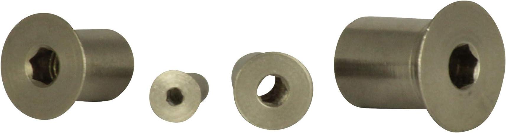 H/ülsenmuttern mit Senkkopf und Innensechskant - aus rostfreiem Edelstahl A1 50 St/ück - Antrieb SC-Normteile/® - NIRO M6x16 - VA SC9062 ISK