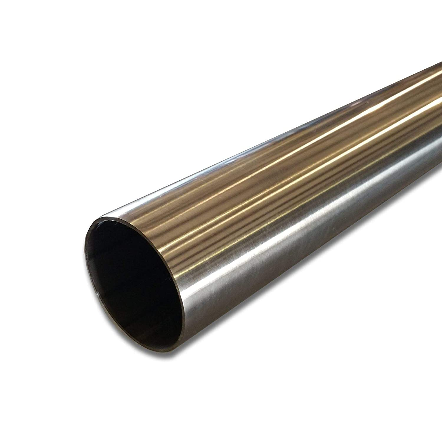 """Polished 304 Stainless Steel Round Tube 2/"""" OD x 0.065/"""" Wall x 72/"""" long"""