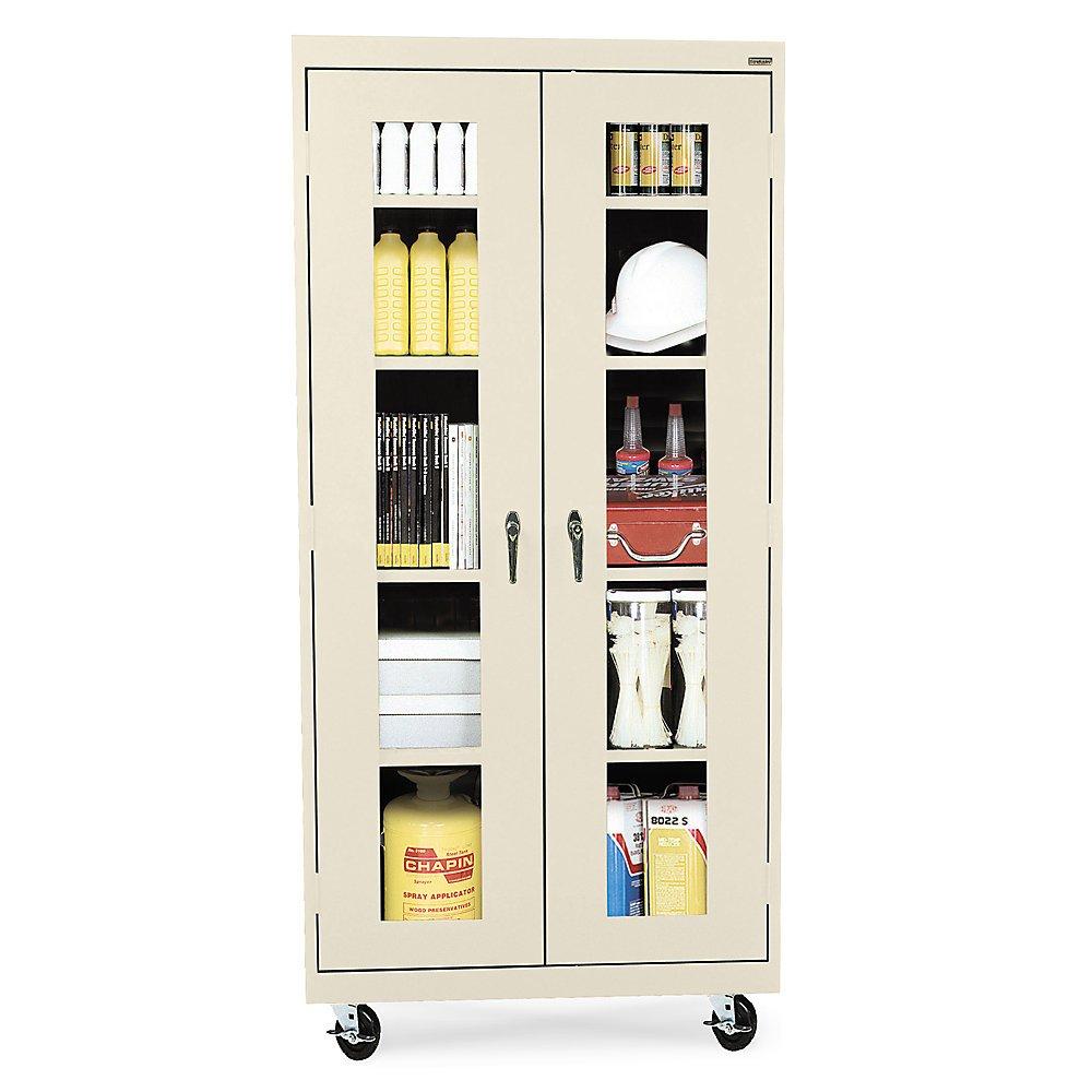 Sandusky Lee TA4V361872-07 Elite Series Transport Mobile Clear View Storage Cabinet, Putty