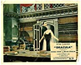 Dracula 1957 original Hammer Horror lobby card Christopher Lee carries woman