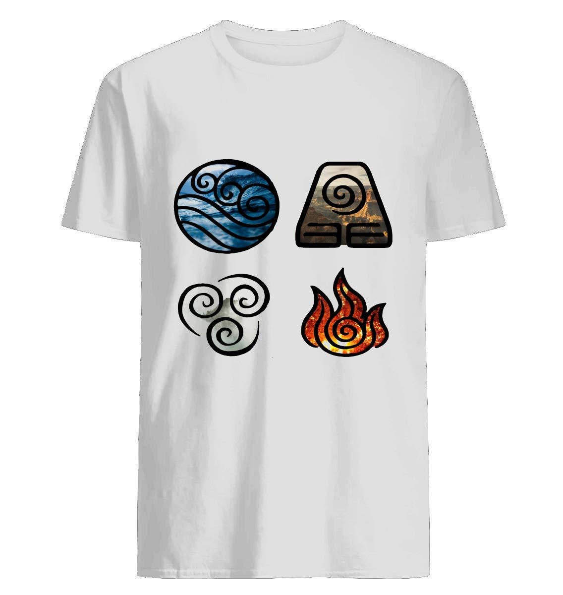 Avatar The Last Airbender Elet Symbols T Shirt For Unisex