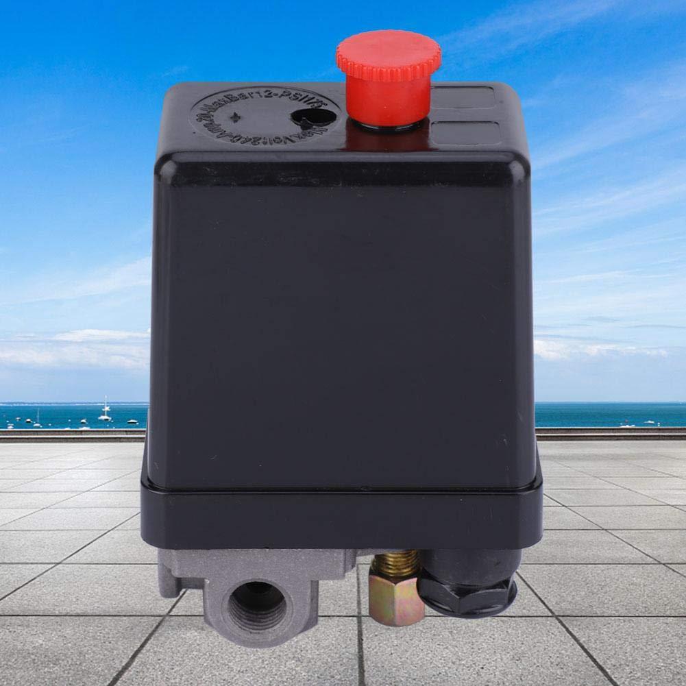 3 phases Contr/ôleur de Soupape de Commande de Pression avec Bouton de R/églage Interrupteur de R/égulation de Pression de Compresseur dAir Monophas/é//Triphas/é Pressostat de Compresseur dAir