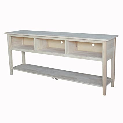 International Concepts Unfinished Entertainment/TV Stand, 60 Inch,  Unfinished