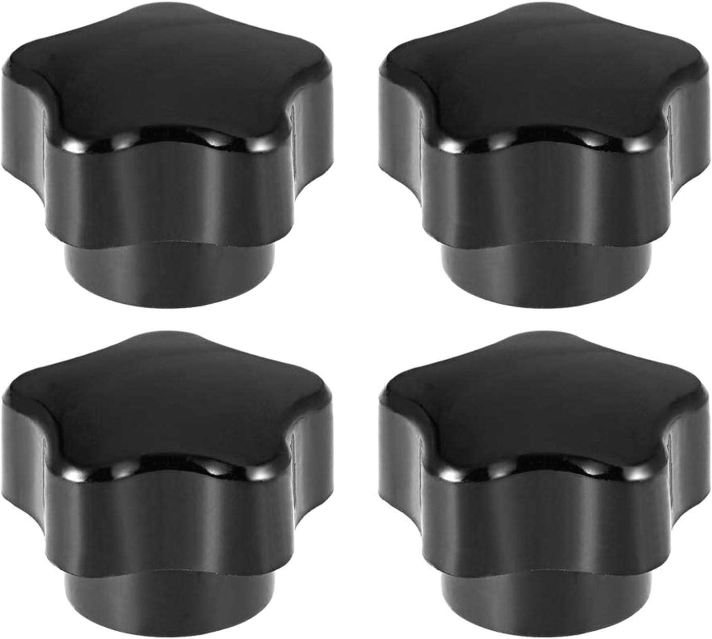 schwarz BERYLX Sterngriffe Griff M5 Durchmesser Messingeinsatz Innengewinde 4er-Set
