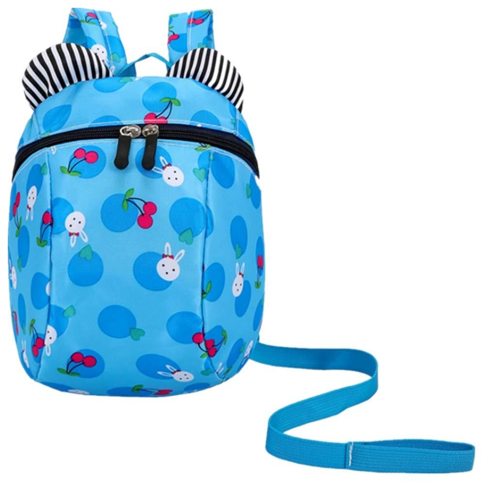 Kindlov-BG Walking Safety Children's Backpack with Belt 3-6 Y Cute Pattern Infant Baby Safety Harness Toddler Child Kid Strap Backpack Bag (Color : Blue)