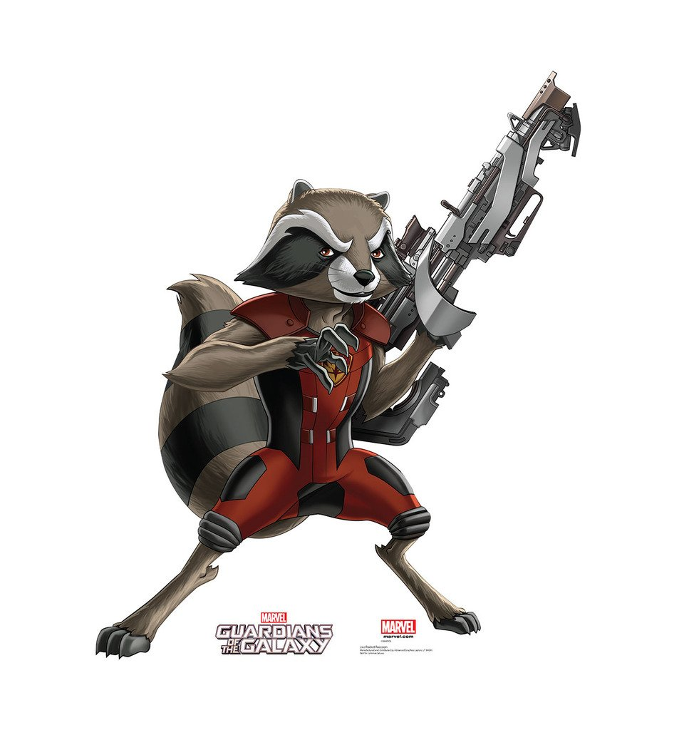 Rocket Raccoon - Guardians of the Galaxy (TV Series) - Advanced Graphics Life Size Cardboard Standup by Advanced Graphics