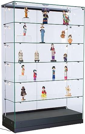 Amazon.com: displays2go Retail Vitrinas con luces, baldas de ...