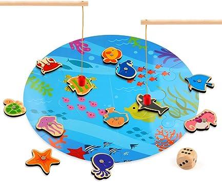BeebeeRun Juego de la Pesca,Juego Pesca Puzzle Magnético Infantil ...