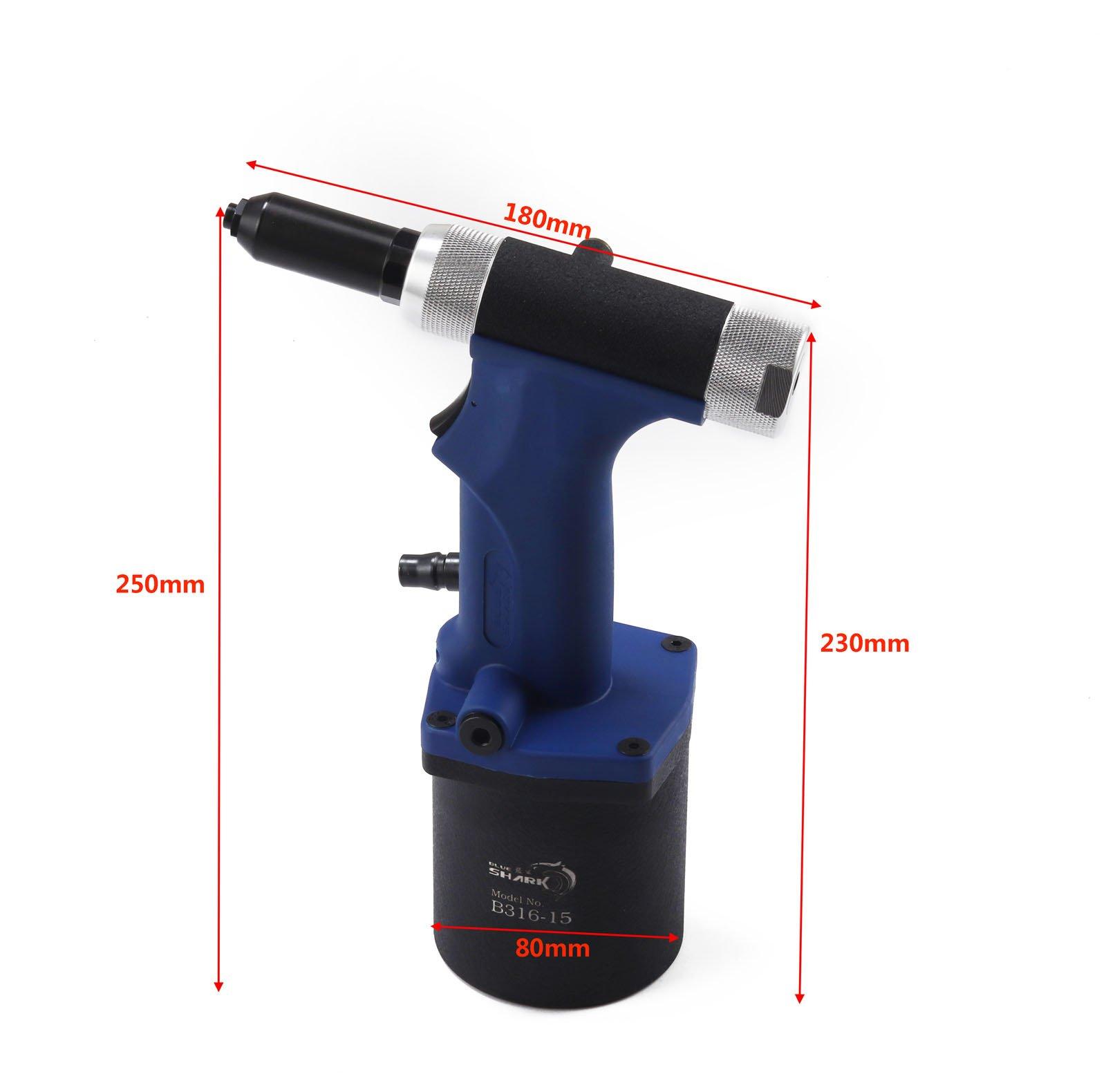 Professional Air/Hydraulic Rivet Gun Four nose Riveting Tool Air Power Tool B316-15 by SHUQIU (Image #2)