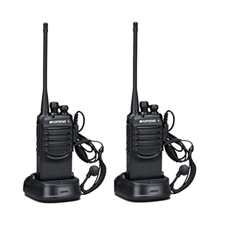 Walkie Talkies with Earpieces Baofeng BF-888SA (2 Packs) Long Range and Reachargeble for Adults Trolling Camping Hiking Hunting Travelling