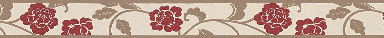 Cr/éation Frise murale autocollant Stick Ups beige brun rouge 5,00 m x 0,05 m 282019 A.S