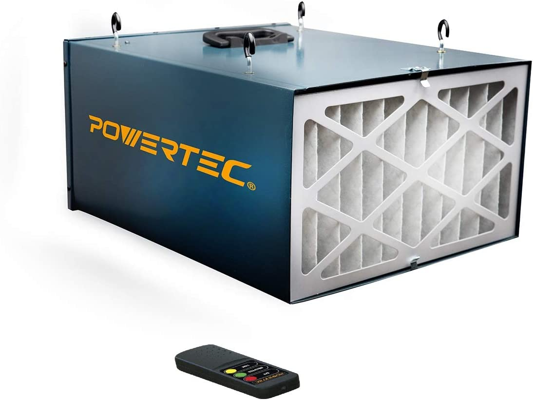 POWERTEC AF4000 Remote Controlled 3-Speed Air Filtration System (300/350/400 CFM)