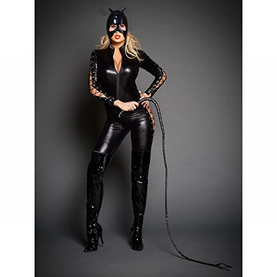 Amazon.com : DIVOD Nightclub Stage Performance Cat Female Body Suits, Patent Leather Lingerie, with Masked Headgear (Excluding Whip) : Sports & Outdoors