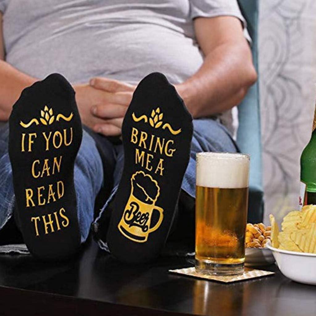 Calzini da donna unisex in cotone pettinato con scrittaBring Me Beer Xiuinserty