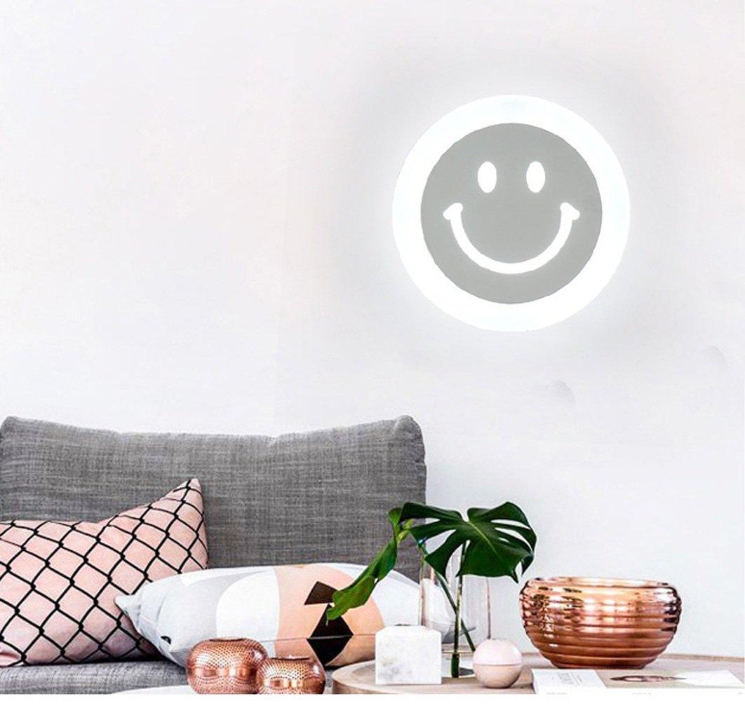 l/ächelndes Gesicht Einfache Deckenleuchte Led Balkon Deckenleuchte - Ultra-d/ünn, weiches Licht, dekorative Raum, kleiner Footprint -220mm * 45mm Color : Warm light Aisle Light