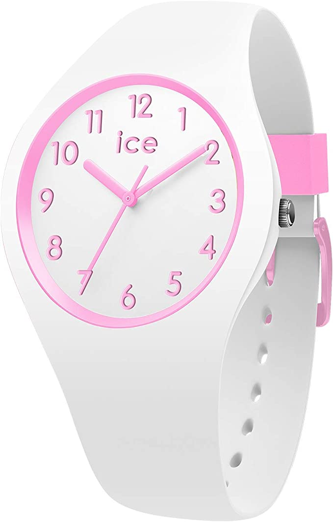 Ice-Watch – Ice Ola Kids Candy White – Montre Blanche pour Fille avec Bracelet en Silicone – 014426 (Small)
